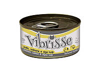 Консерва для кошек Vibrisse Курица, лосось и водоросли 70 г