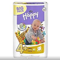 ПОДГУЗНИКИ HAPPY BELLA (BIG PACK) №4+ (9-20 кг) 62 шт.