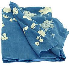 Шикарная женская шаль, вискоза, 180х70 см, Trаum 2494-63, цвет синий.