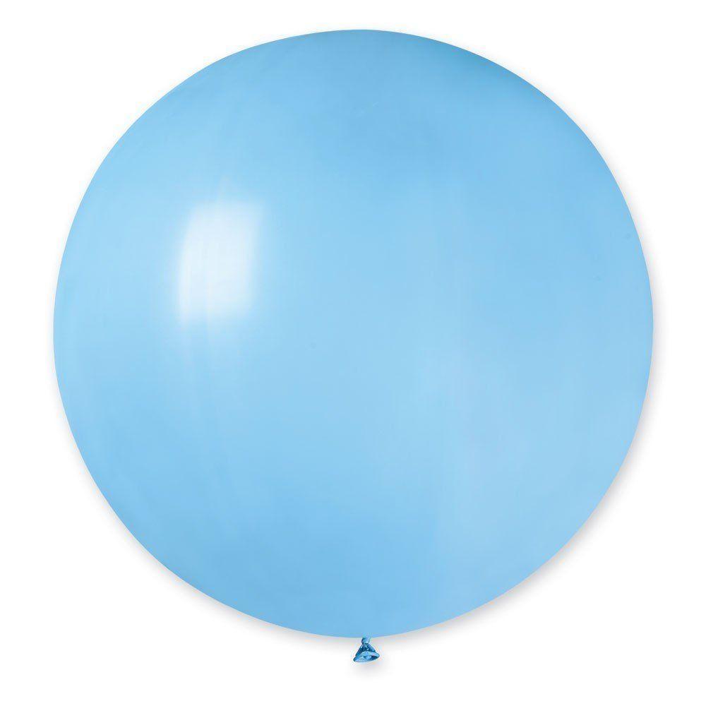 """Латексные воздушные шары Gemar 27""""/09 Пастель светло-голубой"""