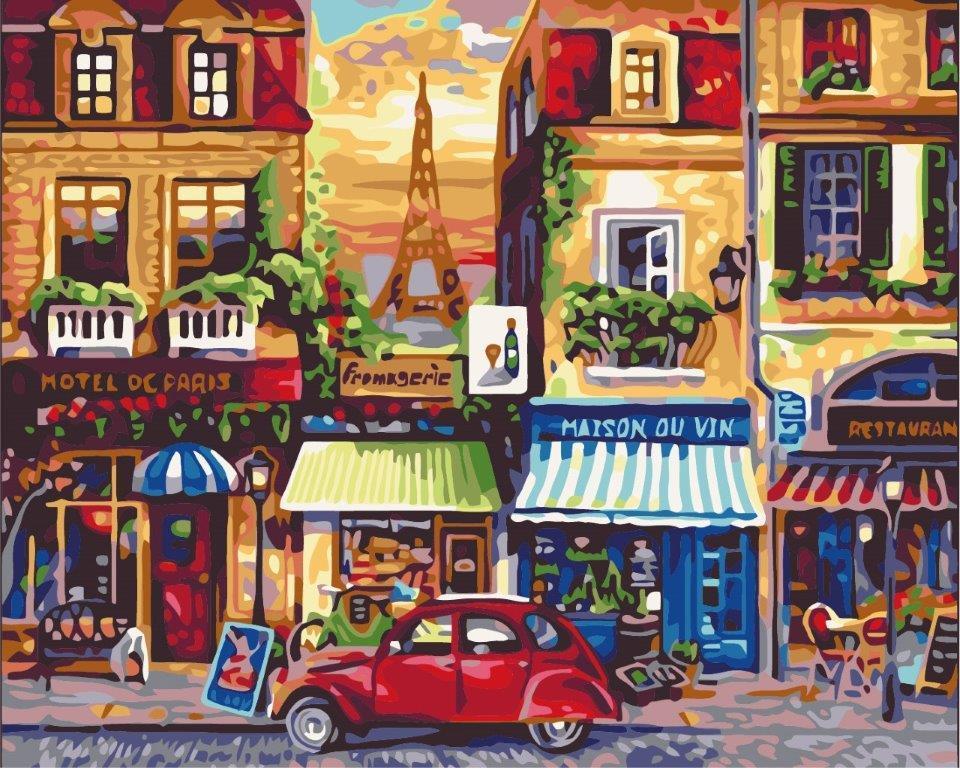 Набор для рисования Улочки Парижа (KH2189) Идейка 40 х 50 см