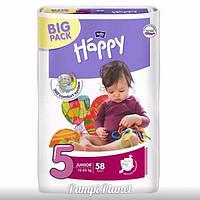 ПОДГУЗНИКИ HAPPY BELLA (BIG PACK) №5 (от 12 до 25 кг) 58 шт.