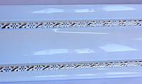 Карниз алюминиевый с двойным молдингом 2,5 м, белый