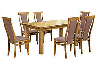 Комплект стол и стулья Барри  (Лак Бук) раскладной