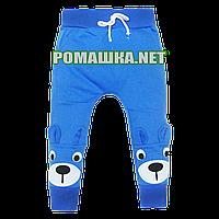 Детские спортивные штаны для мальчика р. 116 с начесом тонкие ткань ФУТЕР 3862 Синий