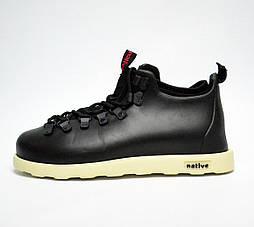 Зимние ботинки Native Fitzsimmons black/white. Живое фото. Топ качество (Реплика ААА+)