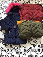 Пальто зимнее на меху для девочек S&D 4-12 ЛЕТ