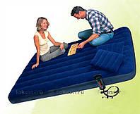 Надувной,матрас,с,подушками,и,насосом 203х152х22см