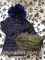 Пальто зимнее на меху для девочек S&D 8-16 лет