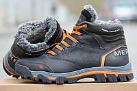 Мужские ботинки Merrell, зимние, черные