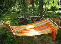 Гамак для дачи и сада тканевый с надувной подушкой планками качественный есть все размеры