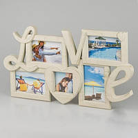 """Фотоколлаж """"Love"""", фоторамка на 5 фото (арт. 045I)"""