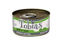 Консерва для собак Tobias Курица и тунец 85 г