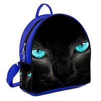 Синий городской рюкзак с принтом Пантера