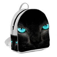 Белый городской рюкзак с принтом Пантера