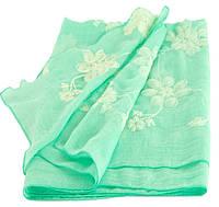 Шикарная женская шаль, Trаum 2494-68, вискоза, 180х70 см, цвет бирюзовый.
