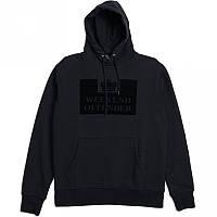 Худи Weekend Offender черное с логотипом, унисекс (мужское,женское,детское)