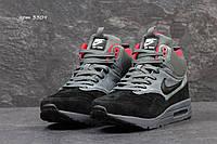 Замшевые высокие кроссовки Nike Air Max 87, мужские (ЗИМА)
