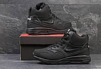 Зимние высокие кроссовки Nike, черные, мужские