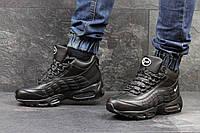 Мужские черные кроссовки Nike Air Max 95, высокие (ЗИМА)
