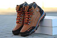 Мужские зимние ботинки Columbia, натуральная кожа, рыжие