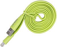 Кабель GOLF GC-03I Standard Flat Lightning cable 1m Green
