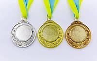 Заготовка медали спортивной пластиковая с лентой HIT d-5см (15g)