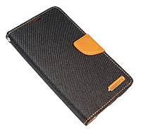 Чехол-книжка для Meizu MX5, Black-Brown, Goospery Canvas Diary