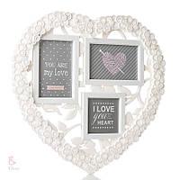 Фотоколлаж в форме сердца (арт. 146I/white)