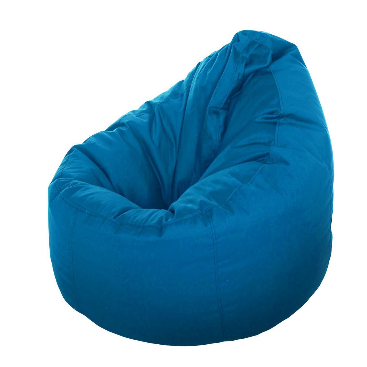 Кресло пуф груша XXL цвет электрик (синий)