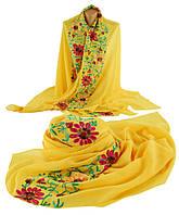 Шикарная женская шаль, Trаum 2494-74, вискоза, 170х90 см, цвет желтый.