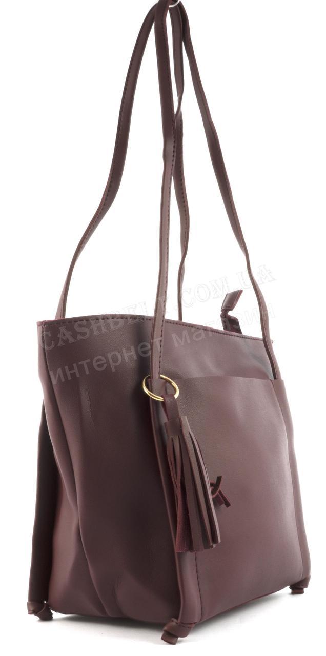 92d5f27316c8 Аккуратная женская сумка с длинными ручками и маленькой сумочкой из эко  кожи SULIYA art.