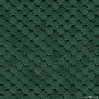 Битумная черепица Shinglas Кадриль Соната Нефрит (зеленая), фото 2