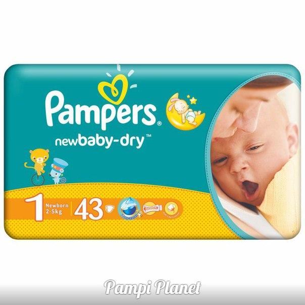 b15a2d06624c Pampers NEW Baby- Dry №1 43 шт. (2-5кг)., цена 175 грн., купить в ...