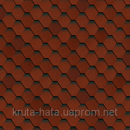 Битумная черепица Shinglas Кадриль Соната Турмалин (красная), фото 2