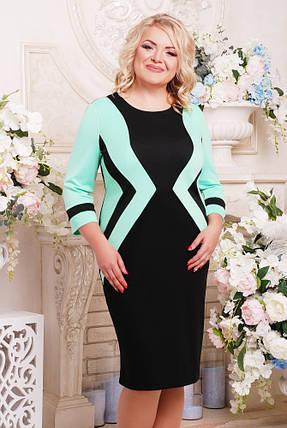 4a4d66d9be2f2fa Женское приталенное платье Секрет рукав 3/4 размер 52-62 / большие размеры,