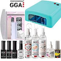 """Стартовый набор """"GGA Professional"""" Premium для покрытия гель лаком с УФ лампой 818 на 36 Вт"""