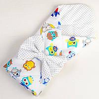 Конверт - одеяло демисезонное BabySoon Совы в наушниках 80 х85см (044), фото 1