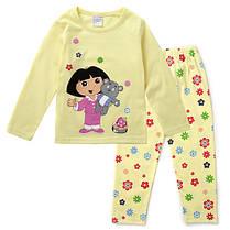 Пижама трикотажная белый и жёлтый верх, фото 3