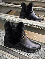 Ботиночки известного бренда:) Натуральная кожа, внутри байка. Р-р 36-40 Цвет: чёрный.