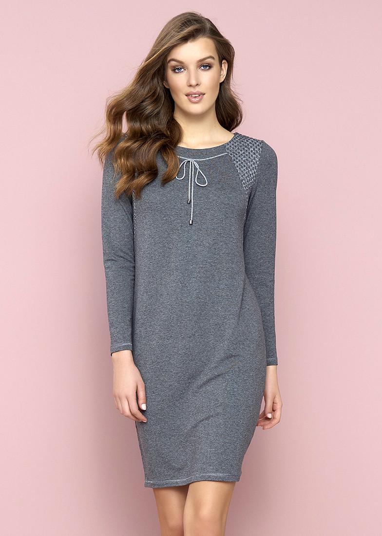 Женское платье Sini Zaps серого цвета. Размер L,XL