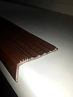 Резиновая антискользящая накладка на ступени (Коричневая)