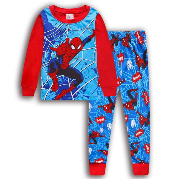 Пижама трикотажная человек паук и бетмен