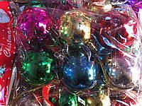 Шары новогодние глянцевые 5 см 6 цв 6 шт