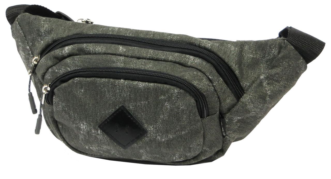 Поясная сумка, сумка бананка Wallaby 2901-1 темно серая