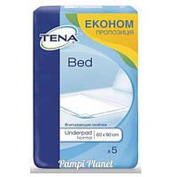 Пеленки для взрослых и детей Tena Bed Normal 60х90 5шт.