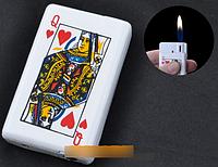 Зажигалка-слайдер карманная Дама Червей №2089 SO
