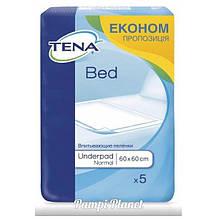 Пеленки для взрослых и детей Tena Bed Normal 60х60, 5шт.