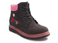 Модные польские женские ботинки осень-весна на шнуровке