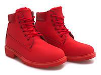 Зимние ботинки красного цвета размеры 36-41